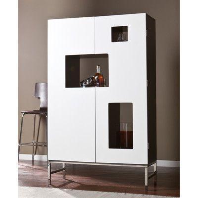Wildon Home Halden Bar Cabinet With Wine Storage