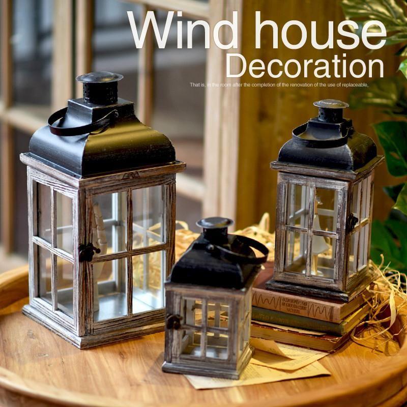 Moroccan Decor Retro Wood House Candlestick Europe ...
