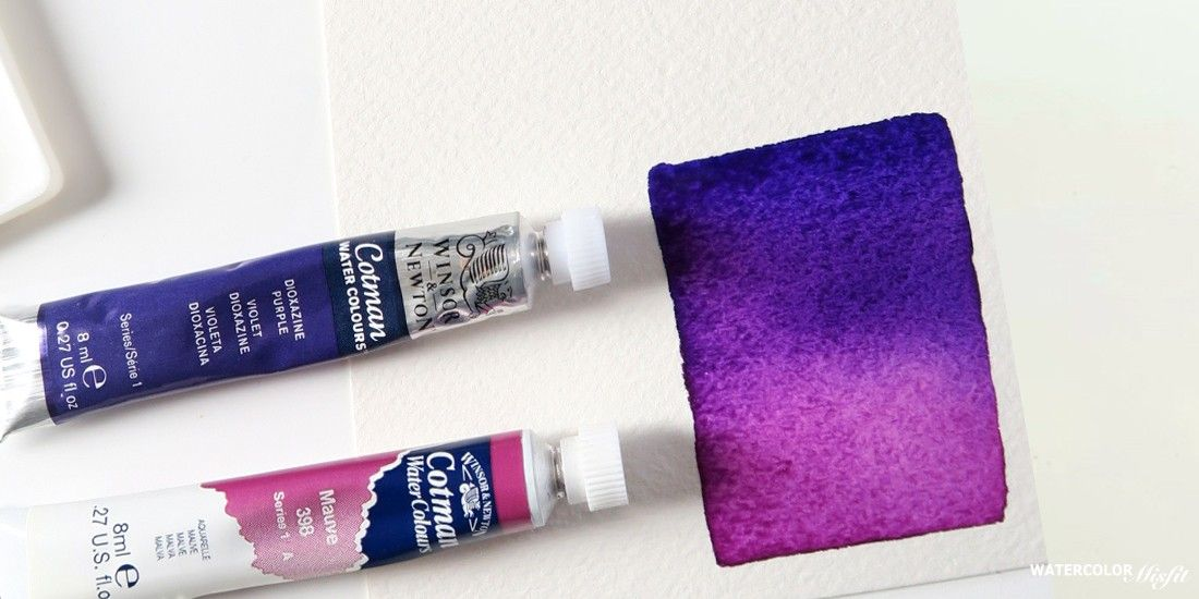 How To Mix Watercolors Purple Violet Color Kaise Banaye