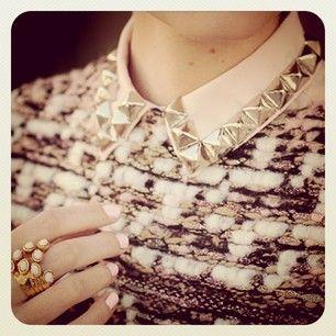 Collar Studding #studs #dunelondon #fashion