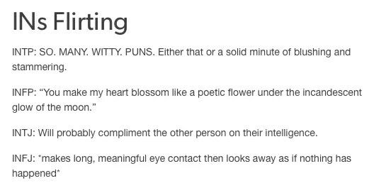 Infj Flirting