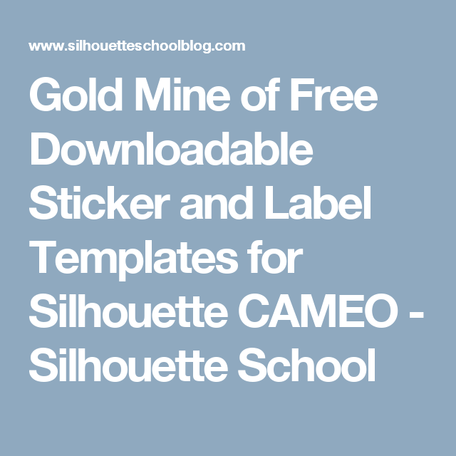 Gold Mine of Free Downloadable Sticker and Label Templates for ...