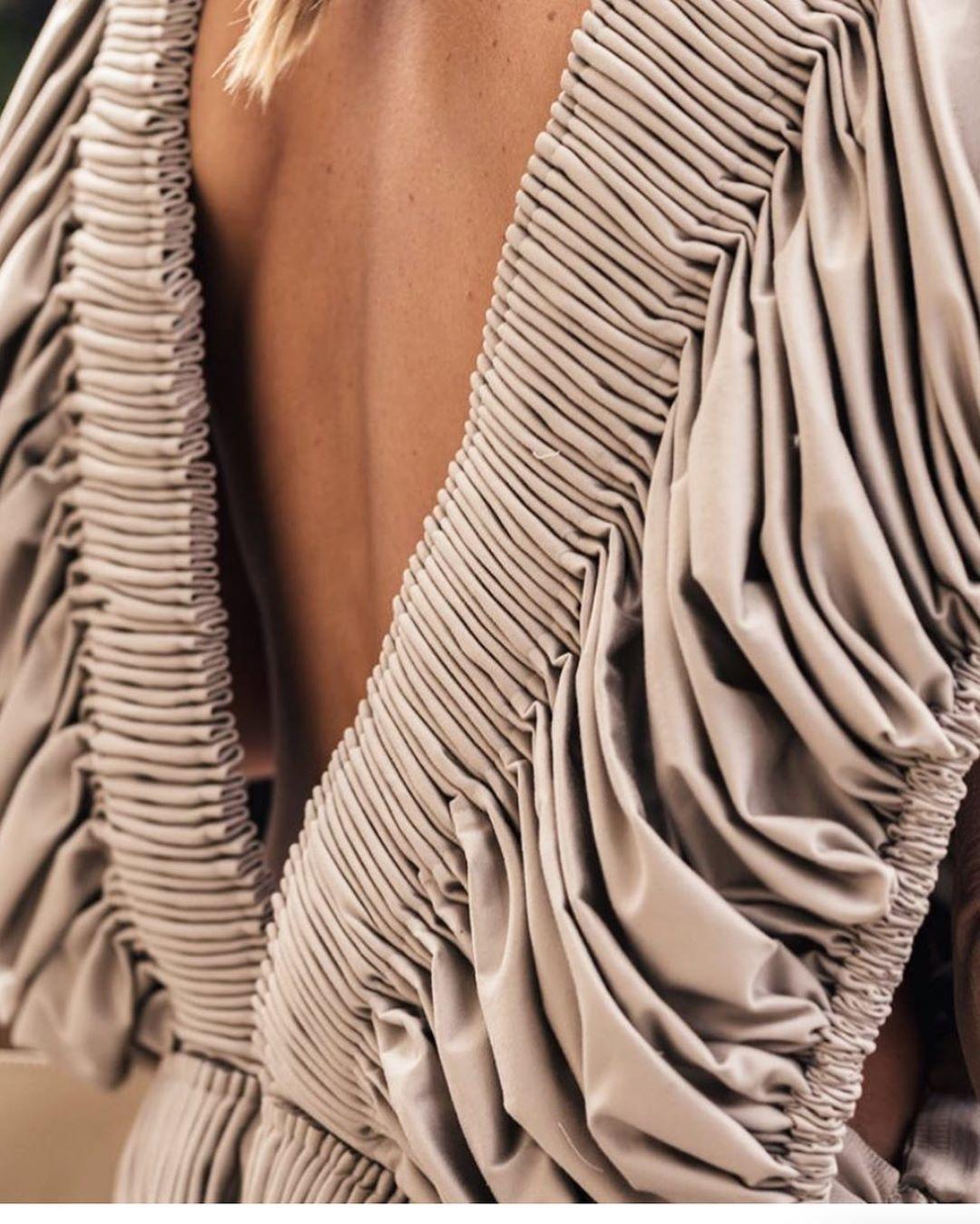Celine Aagaard On Instagram Open Back In Paris At Issey Miyake Wearing The Desert Dress Litalweizman Angelineilmast Fashion How To Wear Fitness Fashion