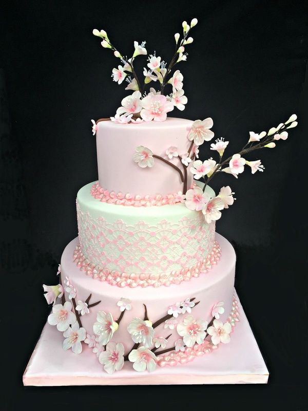 Cherry Blossom Themed Wedding Cake Cherry Blossom Wedding Cake Cherry Blossom Cake Themed Wedding Cakes