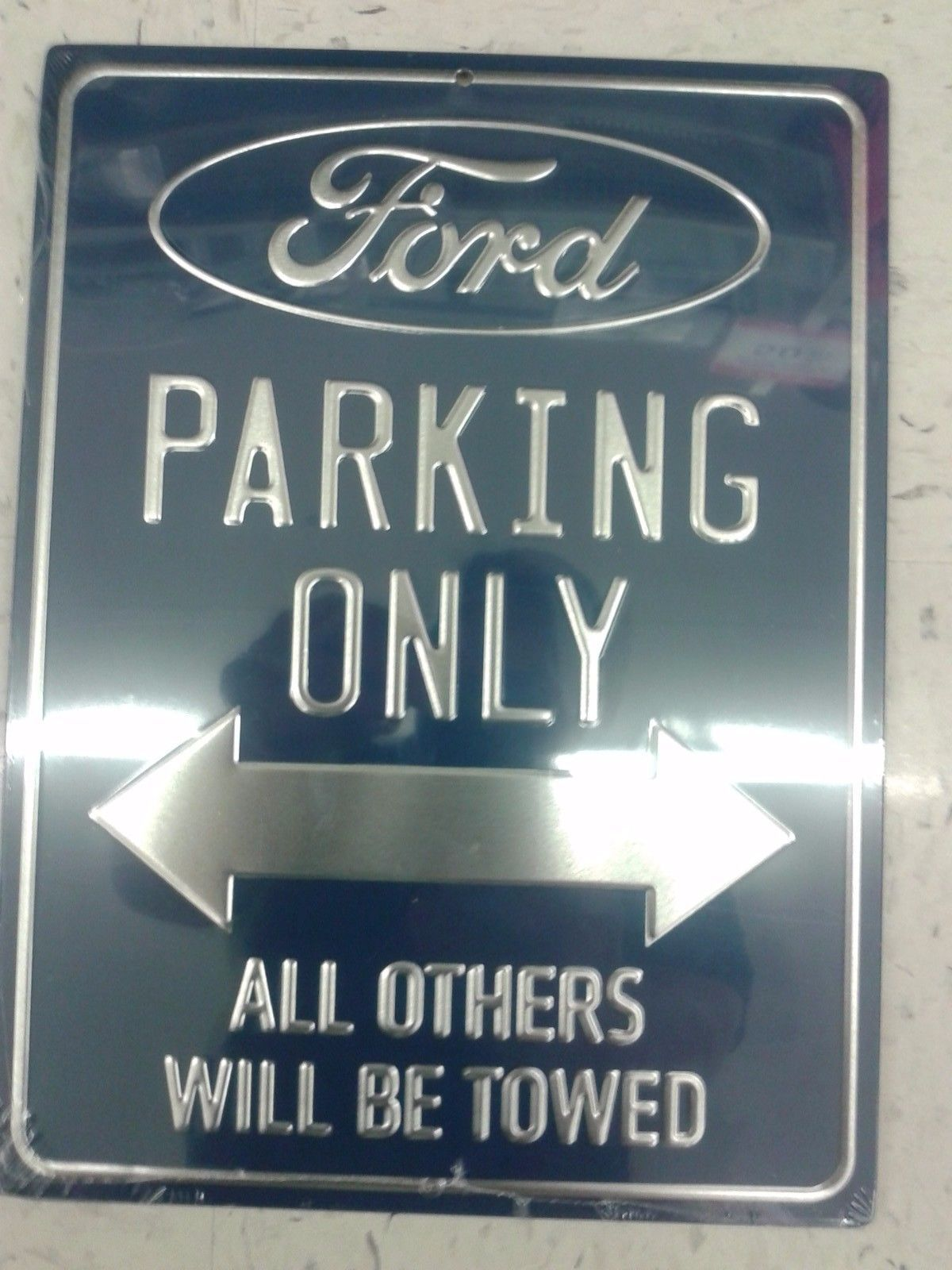 Raised Metal Letters Ford Parking Only Metal Sign With Raised Letters 1310 Inches