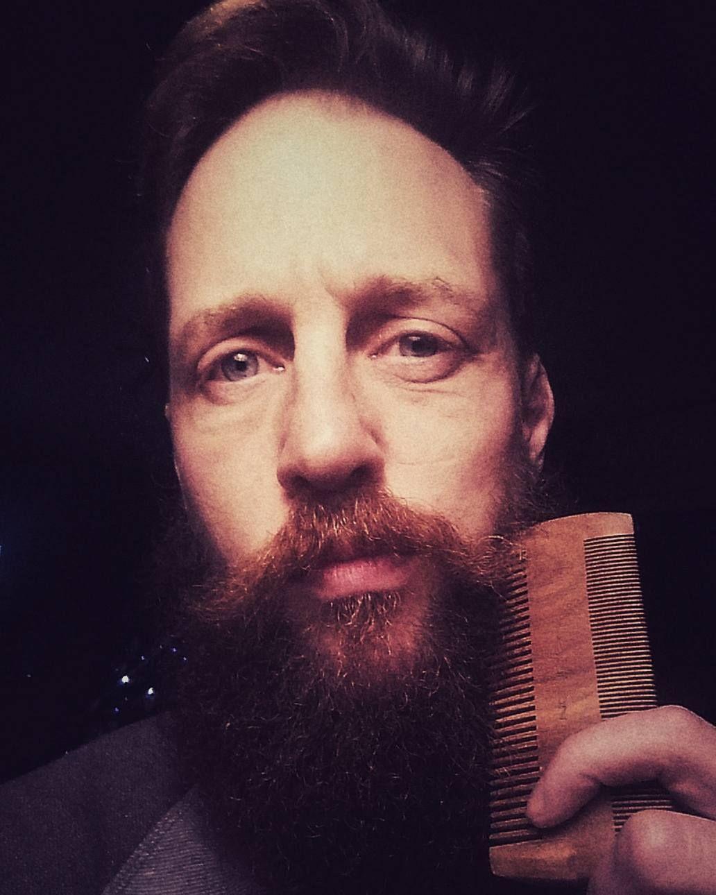 Got me a birthday beard comb! Thanks @jamestuckwood #bearded