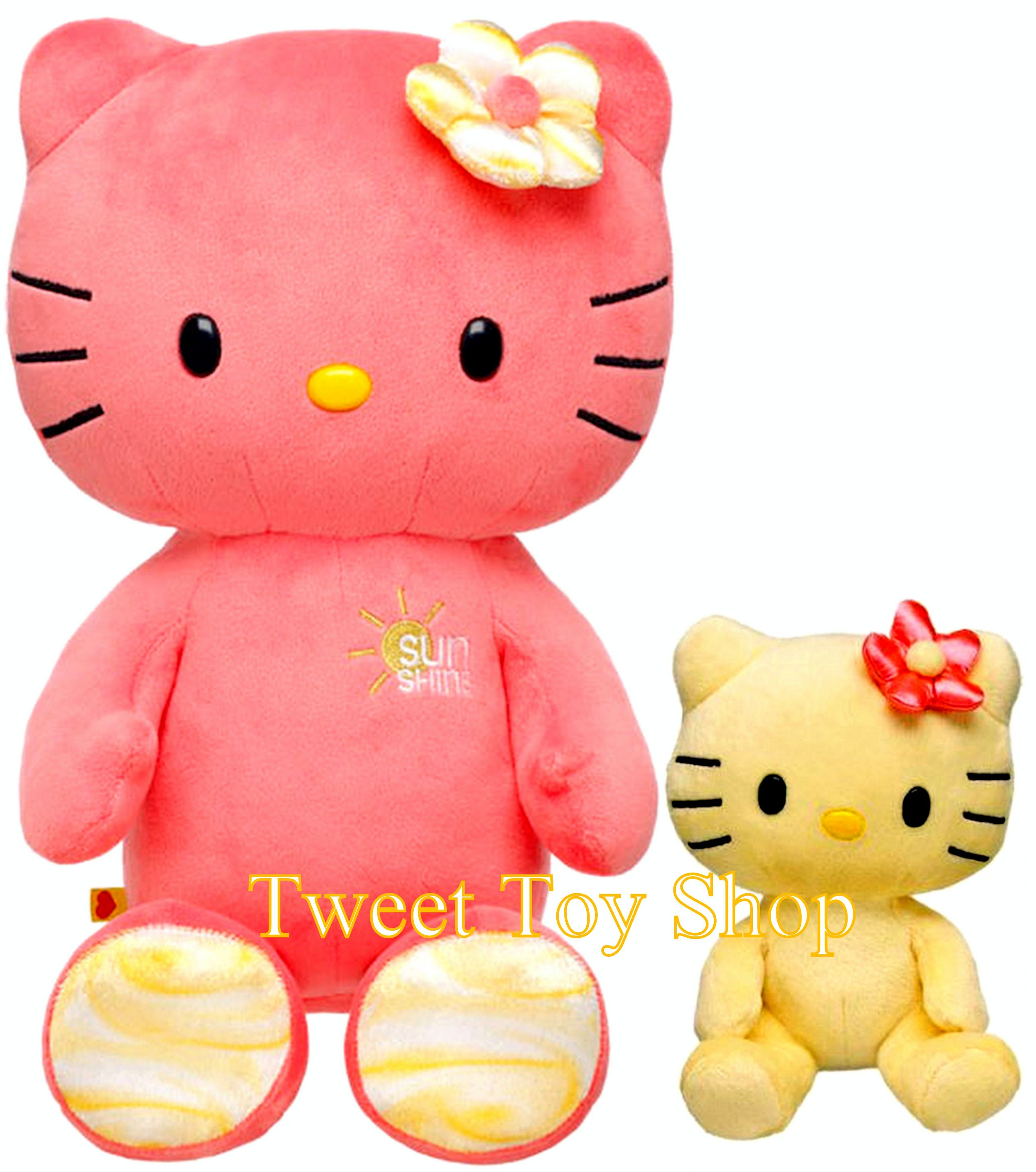 Build A Bear Hello Kitty Sunshine Coral 18 In With