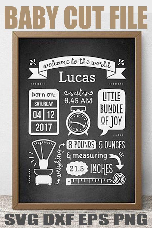 10+ Birth Announcement Template Svg Free – SVG Bundles