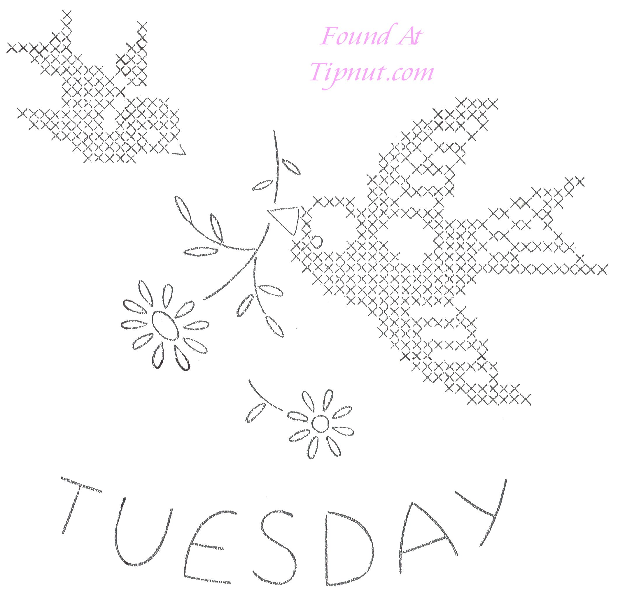 tuesday.jpg 2,126×2,042 pixeles | Bordado dibujos | Pinterest ...