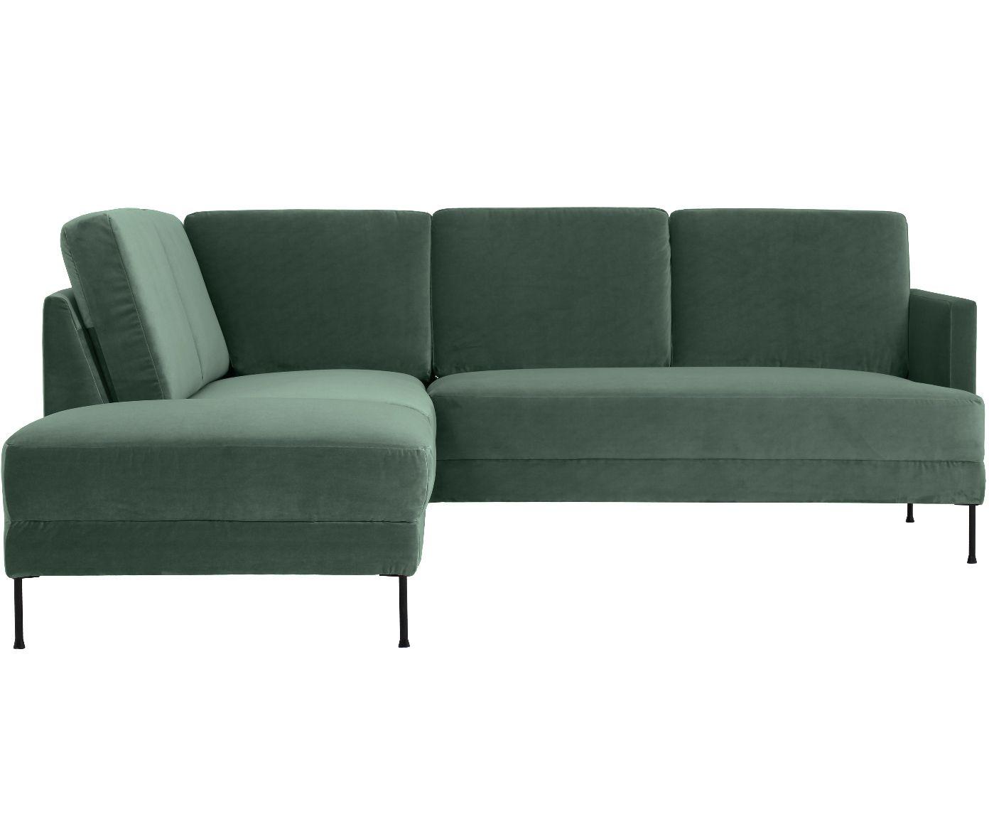 Samt Ecksofa Fluente In Grun Westwingnow Sofa Furniture Sofa Couch