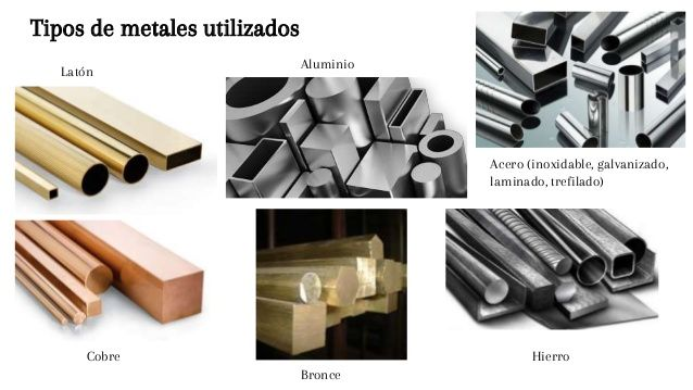 Tipos de metales utilizados lat n aluminio acero - Hierro y aluminio ...