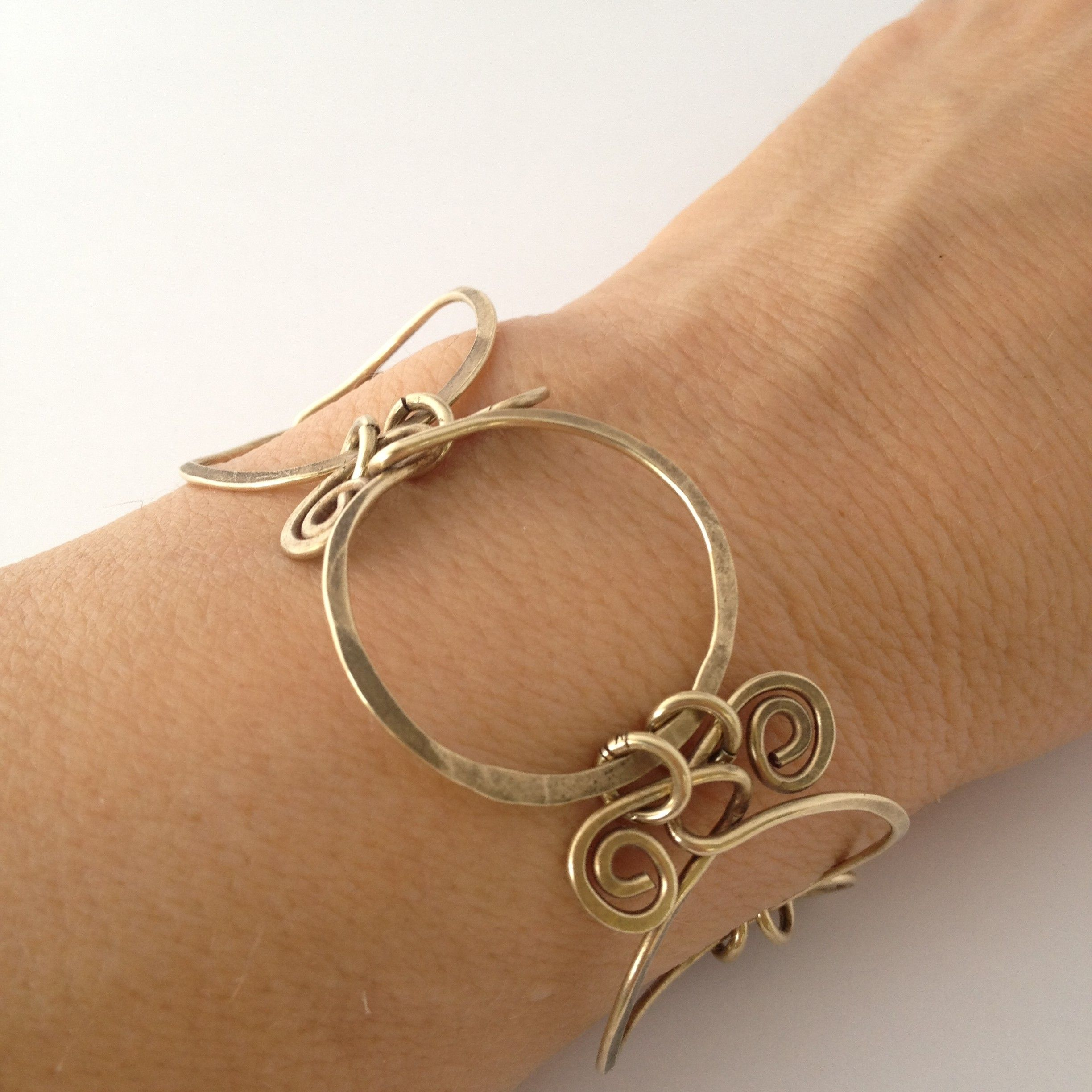 An inspired design ..... Circles and Swirls Brass Bracelet