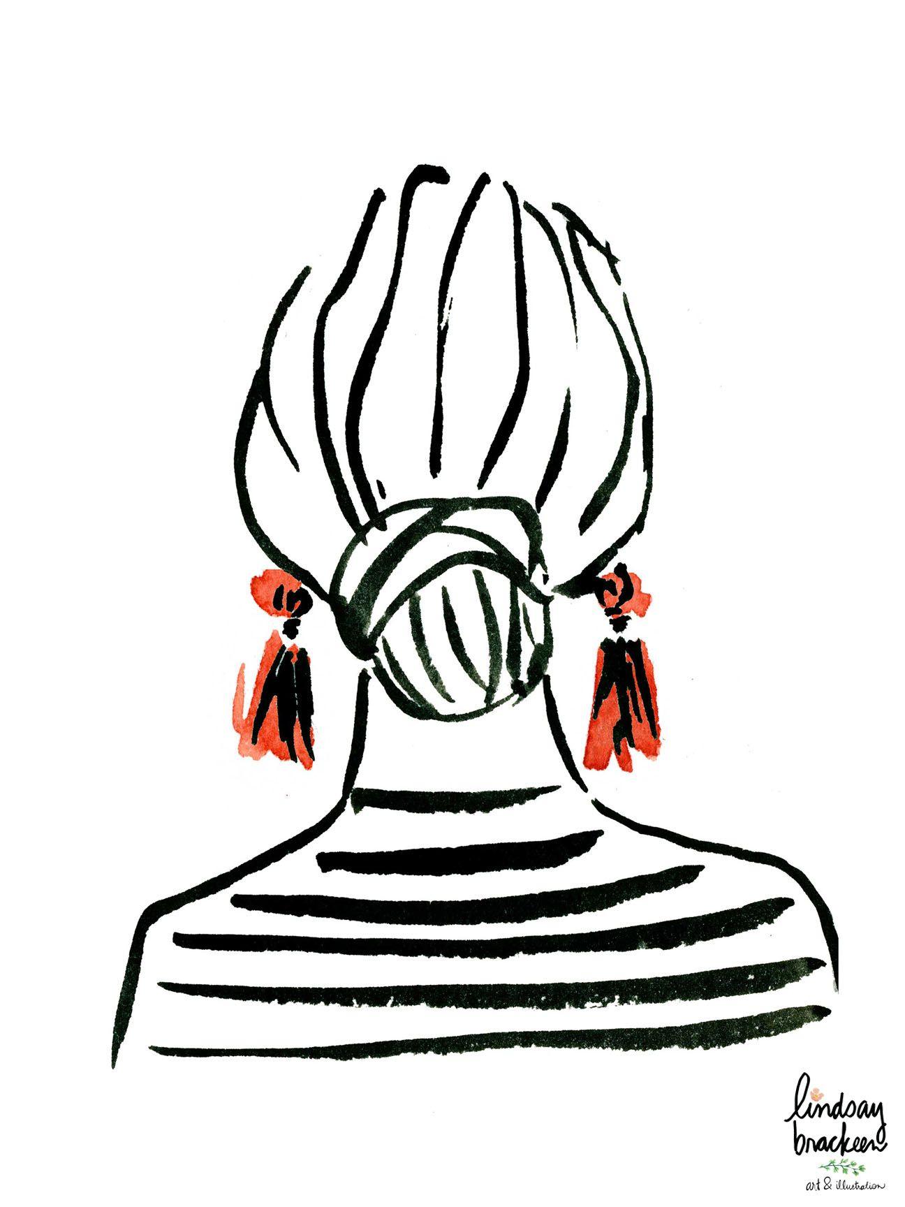 Hairstyle Bun Illustration by Lindsay Brackeen
