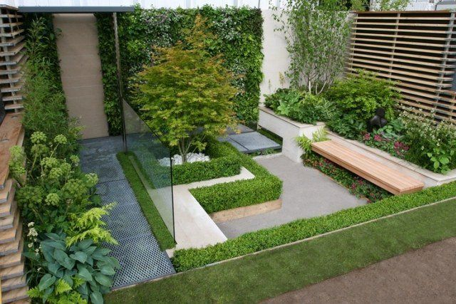 Am nagement paysager moderne 104 id es de jardin design for Amenagement parterre exterieur