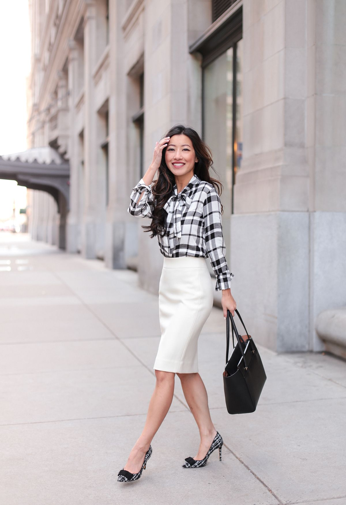 e6dd60d3d3f Business Casual Outfits    Plaid Flannel + Winter White