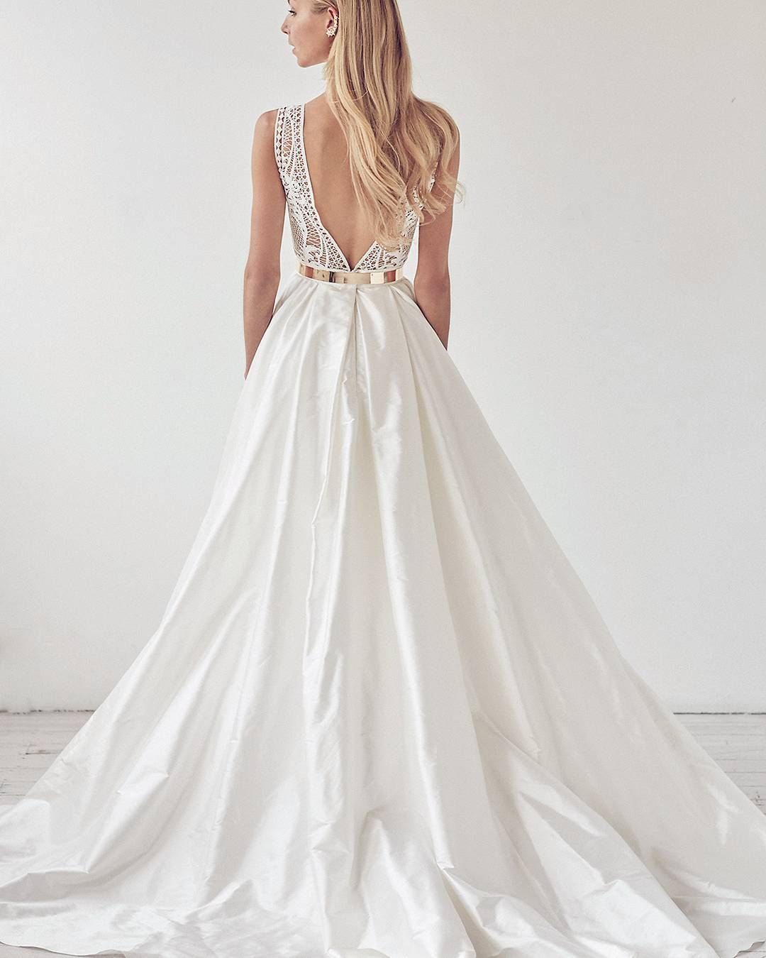 Wedding dresses designers  Stunning VBack Ball Gown  Photo Courtesy of Dimitraus Bridal
