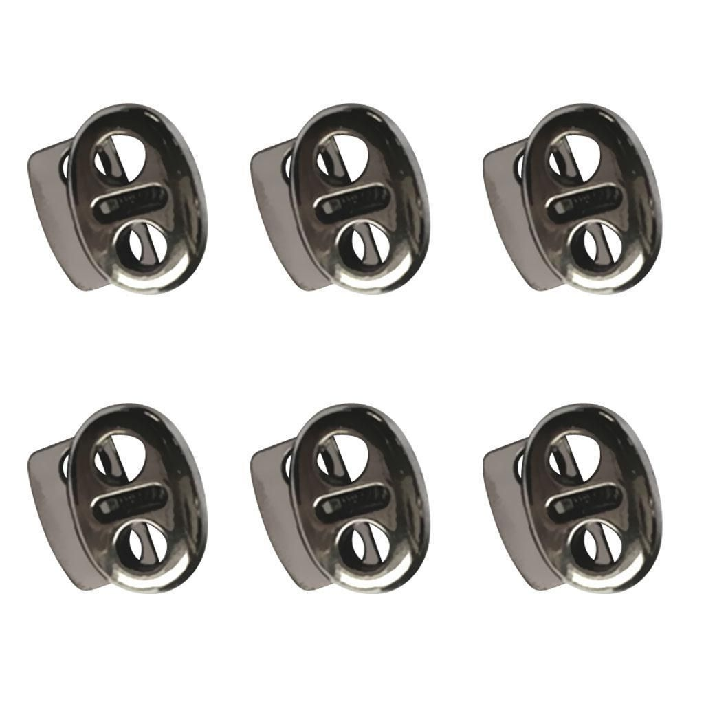 6x Alloy Stopper Toggle Rope Clamp Cord Locks Clasp Buckle Drawstring Sewing