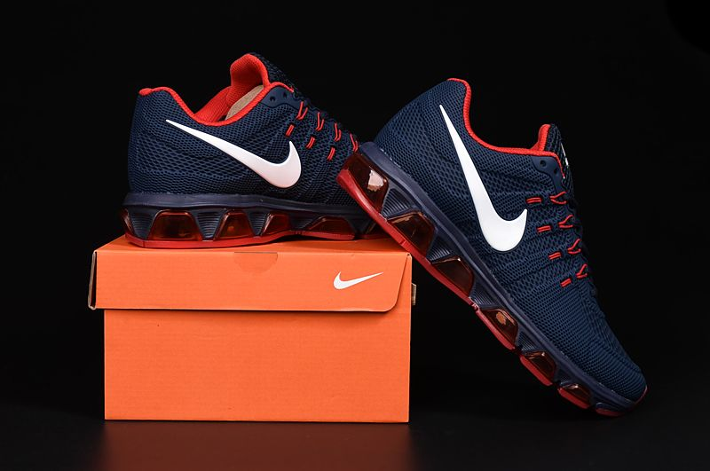 324fe554f850f NIKE AIR MAX TAILWIND 8 Men Running Shoes Dark Blue Red