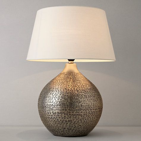 110 Buy John Lewis Kansai Dimpled Metal Table Lamp Online At
