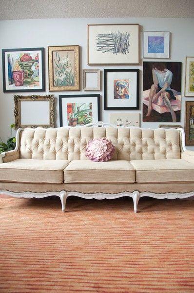 Vintage Inspired Couch home decor Pinterest Vintage
