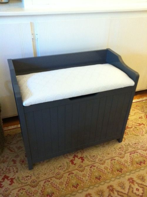 Hamper Bench Diy Projects To Build Apartment Storage