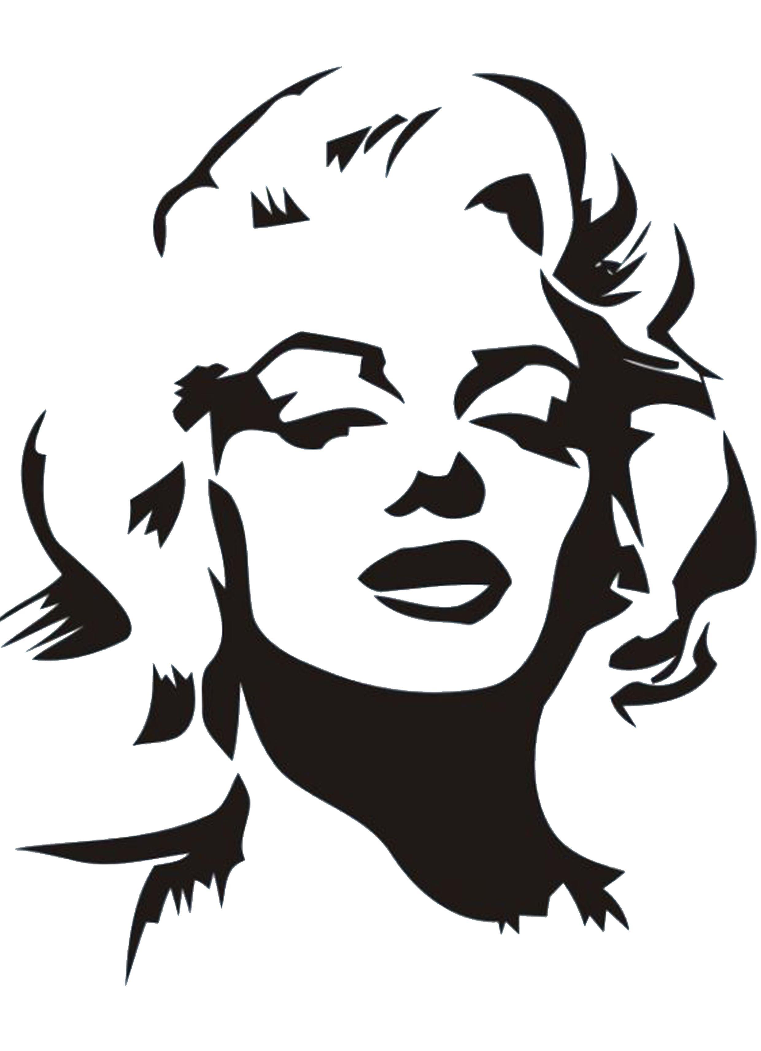 Marilyn Monroe Stencil by Gulcin | Plantillas. Templates ...