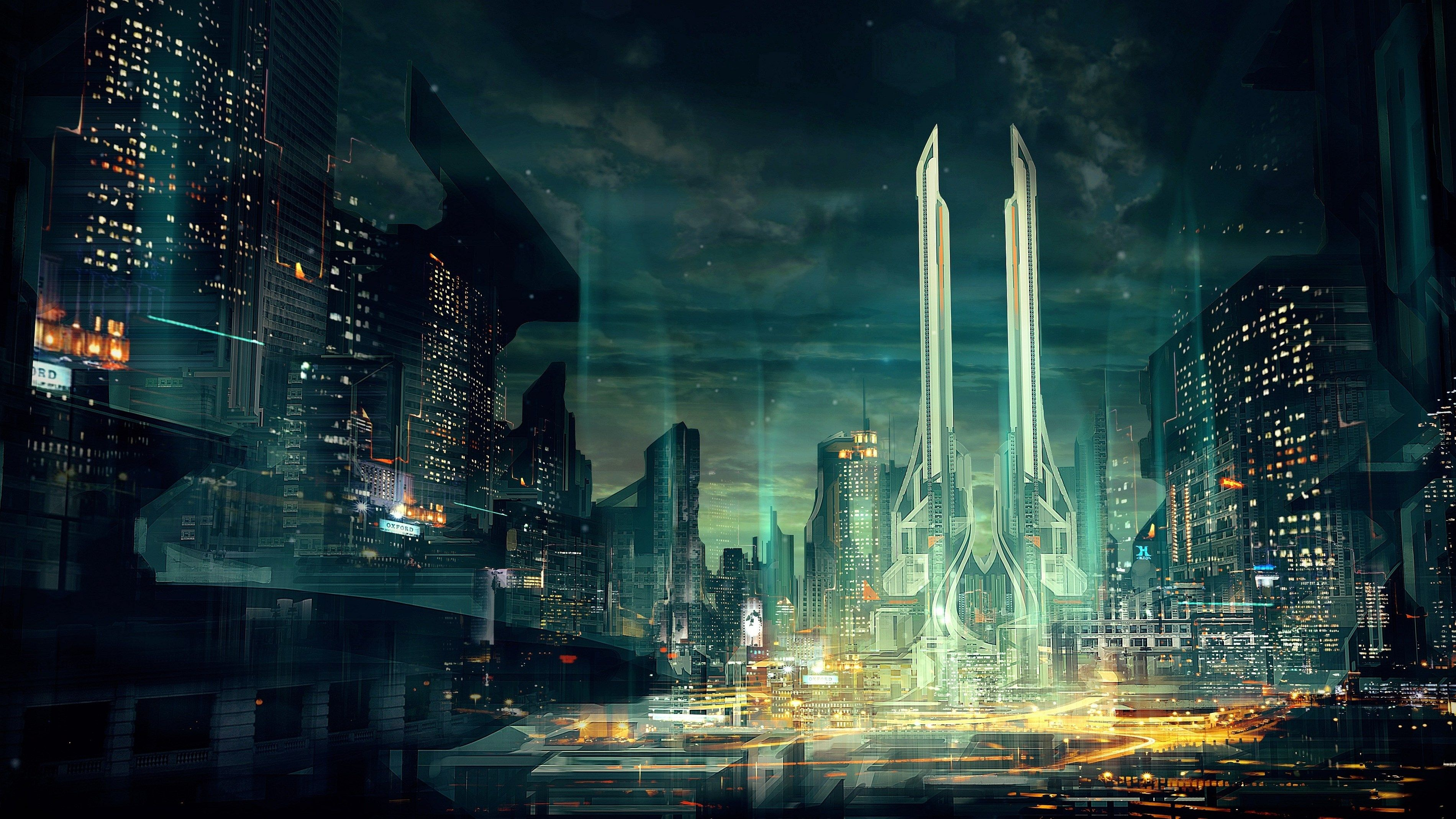 City Backround Desktop Nexus Wallpaper Chisholm Black 3800x2138 Futuristic City Sci Fi Wallpaper Future Wallpaper