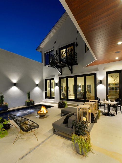 Best Patio Design Ideas & Remodel Pictures | Houzz (With ... on Houzz Outdoor Living Spaces id=34704