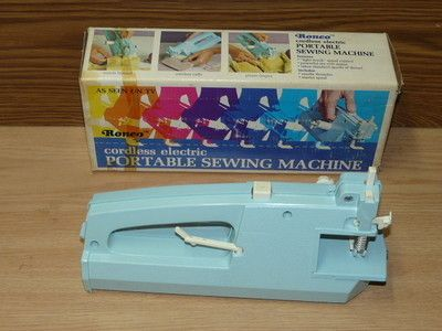 Vintage RONCO Cordless Electric Portable Sewing Machine Ktel Beauteous Archie Johnson And Sons Sewing Machine