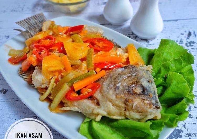 Resep Gurame Asam Manis Oleh Susi Agung Resep Resep Ikan Resep Resep Makanan
