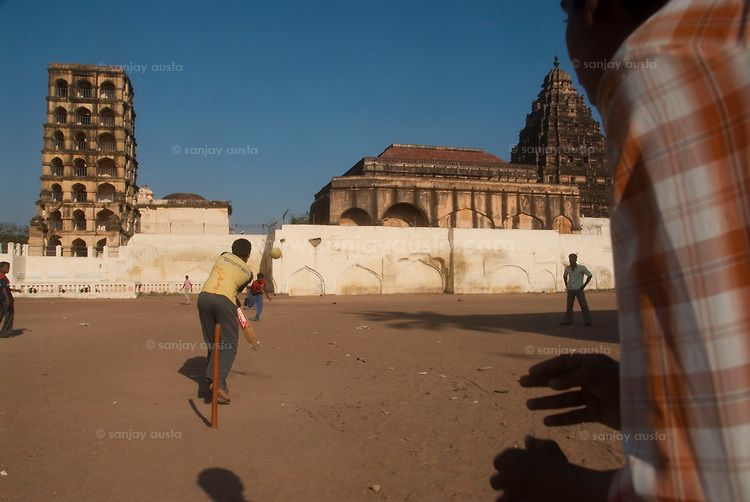 Game of cricket at the Thanjavur Palace in Tamil Nadu  Sanjay Austa is an award-winning photographer based in New Delhi. He can be reached at sanjayausta@gmail.com. Phone: 91-9810672755