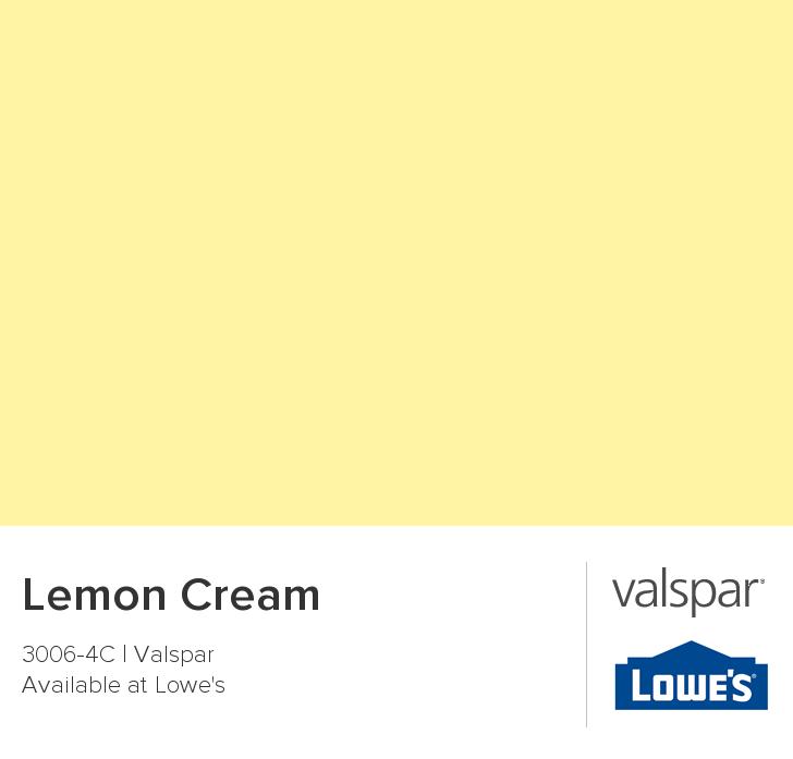 valspar paint - color chip - lemon cream | color palettes