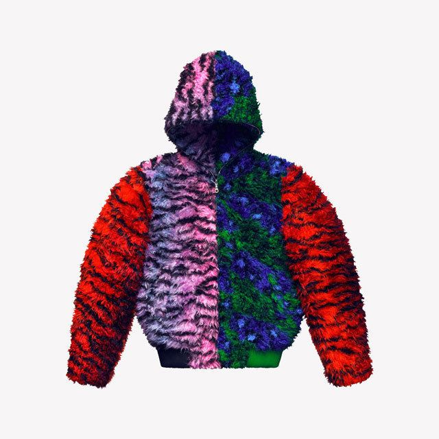 36a1e4fc Kenzo x H&M Men Faux Fur Hooded Jacket szM SOLD OUT Jungle Blue Red Green  Pink #blue #green #pink #jungle #sold #faux #hooded #jacket #kenzo
