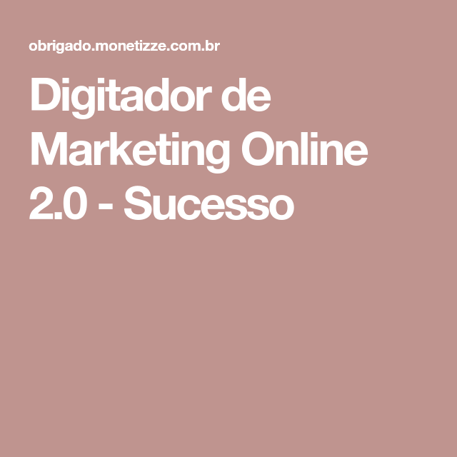 curso de digitador de marketing online