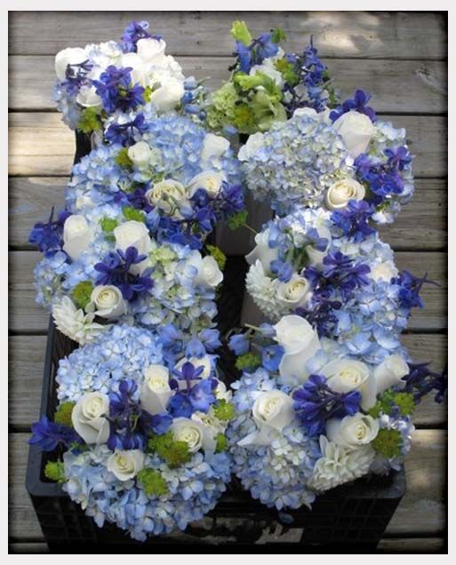 Wedding Flowers, Purple Blue And White Wedding Flowers: blue and ...
