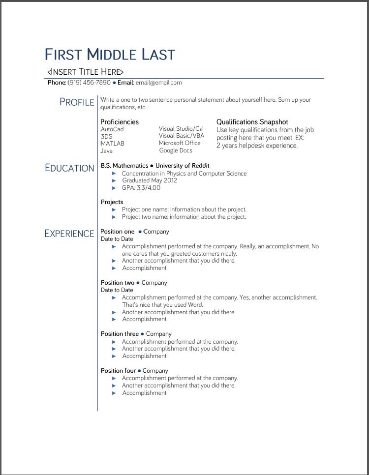 Google Docs Resume Template 2015 Http Www Jobresume Website Google Docs Resume Template College Resume Template Student Resume Template Job Resume Samples