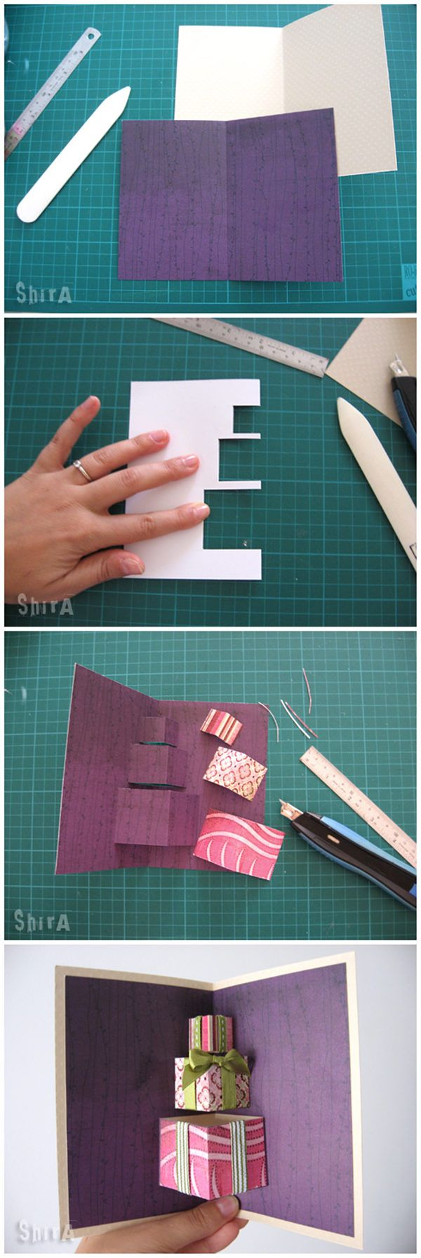 A pile of gifts popup card tutorials pinterest diy christmas