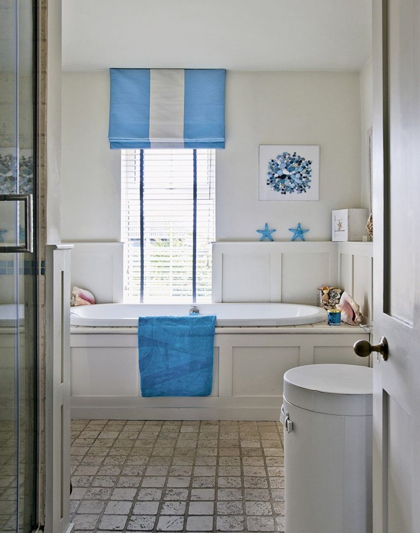 Neutral Bathroom with Nautical Accessories   BATHROOMS - LAUNDRY ...