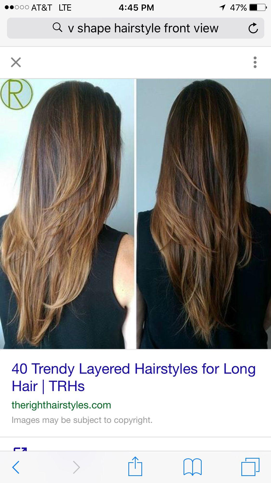 V shaped hair  Hair ColorHair Cuts  Pinterest  Shapes Hair cuts
