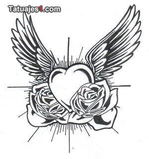 Corazones Con Alas Tatuajes Dibujos De Corazones Corazon Con Alas Disenos De Tatuajes De Corazon