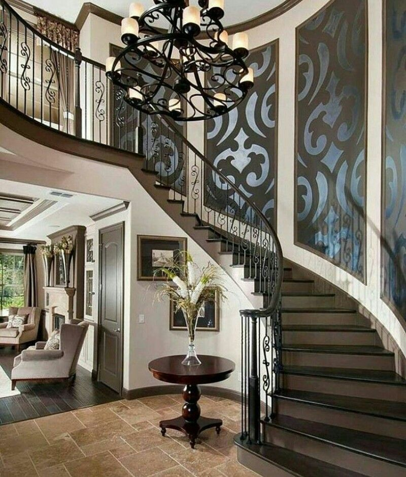 #luxury #staircase #stairway #entry #foyer
