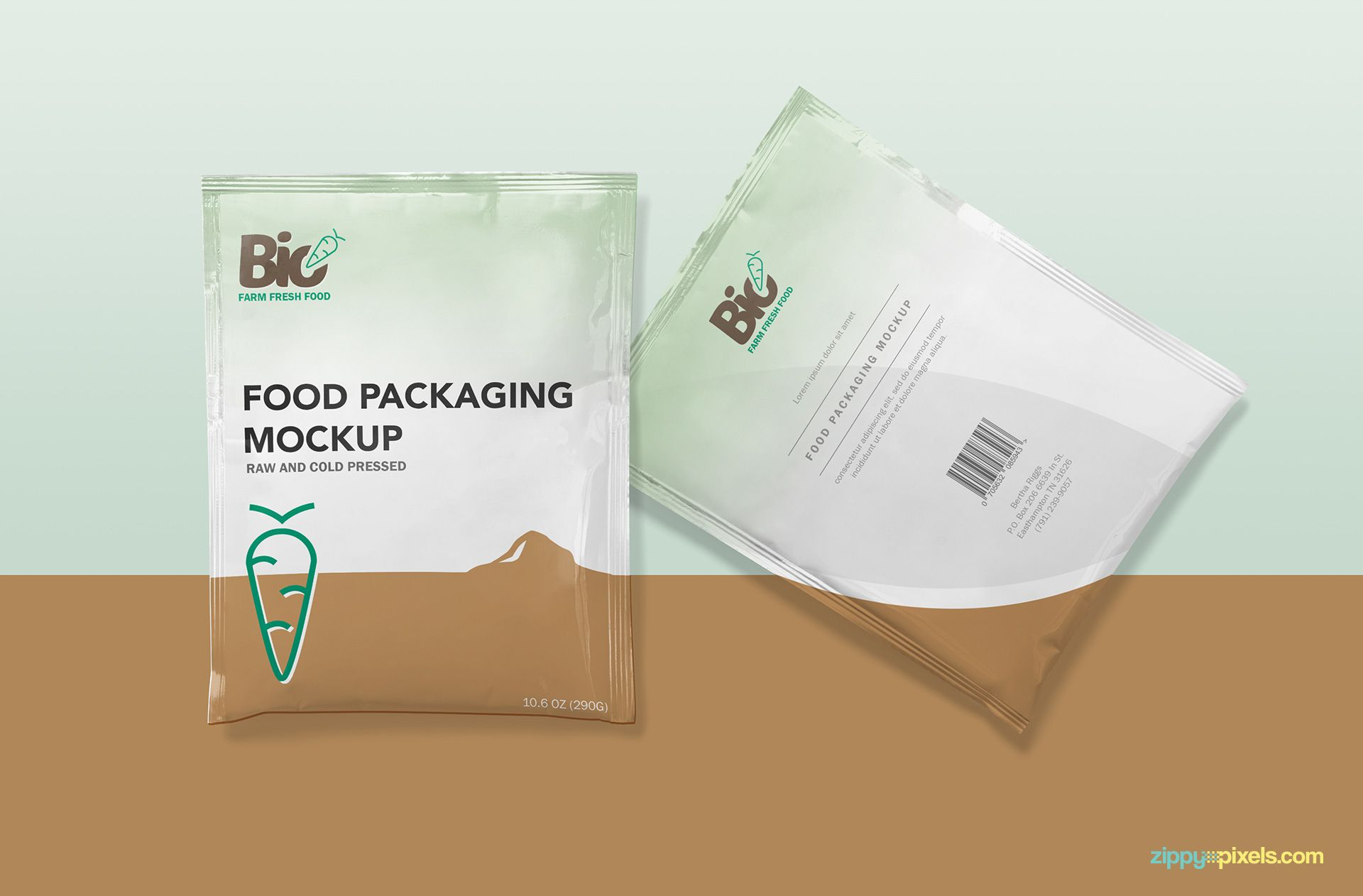 Download Free Foil Sachet Mockup Zippypixels Free Packaging Mockup Packaging Mockup Sachet