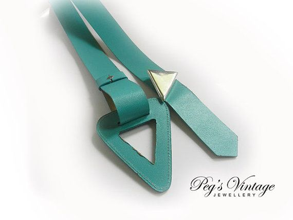 Unique Vintage Emmanuel Turquoise Green by PegsVintageJewellery