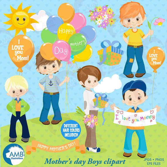 Mothers Day Clipart Mothers Day Kids Mom Clipart Boys Etsy Mom Kid I Love Mommy I Love Mom