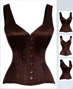 classic satin sleeveless corset top gc1022  corset
