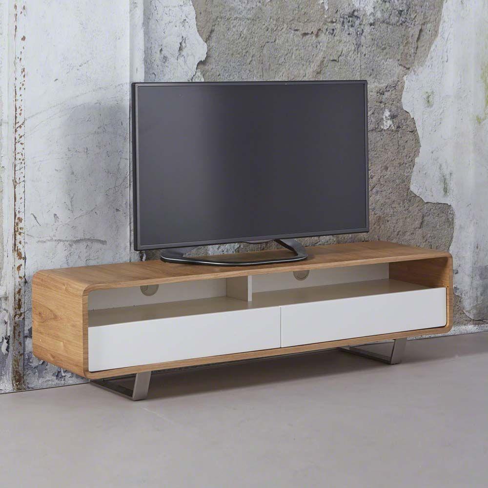TV Board mit Eiche furniert Weiß Jetzt bestellen unter: https ...