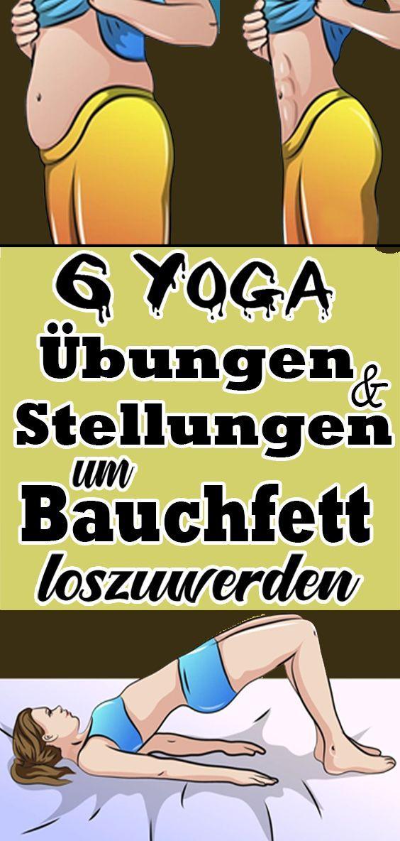 #fitness 6 Yoga Übungen und Stellungen um Bauchfett loszuwerden