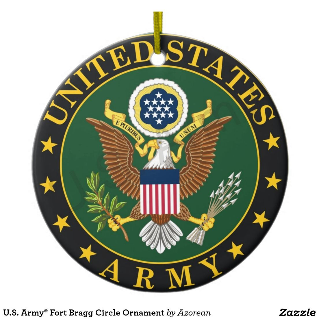 U.S. Army® Fort Bragg Circle Ornament Army symbol, Army