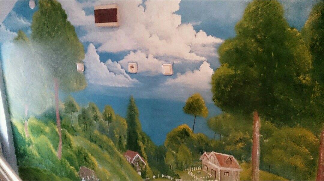 Duvar Boyama Manzara çizim 1 Aeski Resim çizimleri Painting