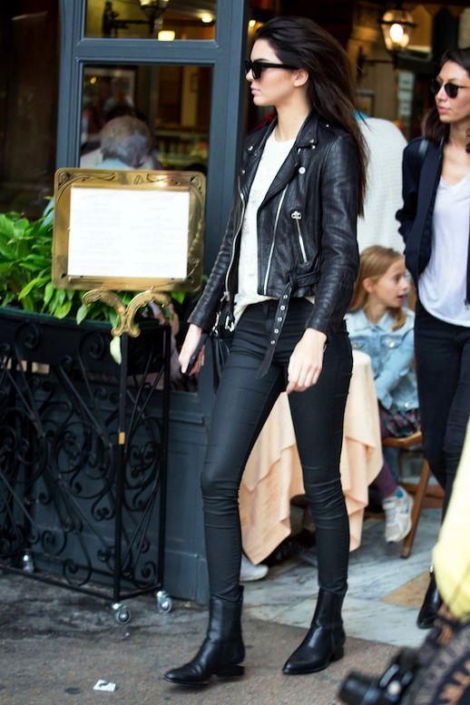 Le Fashion Blog Model Kendall Jenner Street Style Sunglasses Leather Moto  Jacket Coated Skinny Jeans Alexander Wang Boots Via Elle 083c8e2ed761